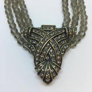 "HEIDI DAUS Brilliant Crystal 20"" Collar Necklace"